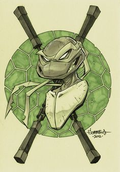 TMNT :: Mikey head sketch by Red-J.deviantart.com on @deviantART