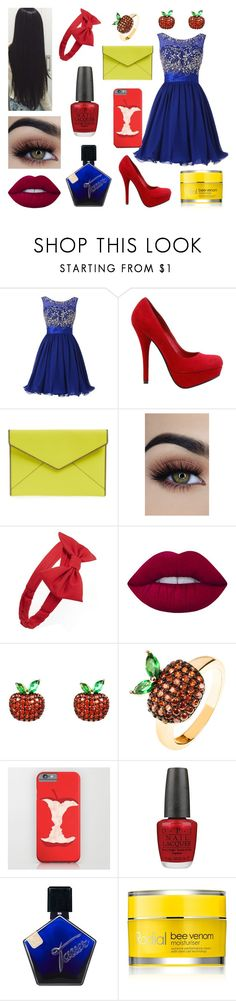 """""""Snow White."""" by julia-poldervaart ❤ liked on Polyvore featuring Rebecca Minkoff, Forever 21, Lime Crime, Latelita, OPI and Rodial"""