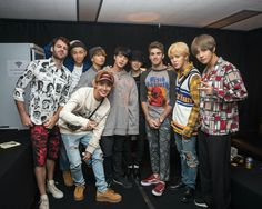 BTS With The Chainsmokers~ ❤ [The Chainsmokers Tweet] Amazing night with these boys! Love you guys for coming through and supporting us! And very excited for your Album! (They went to their concert last night) #BTS #방탄소년단