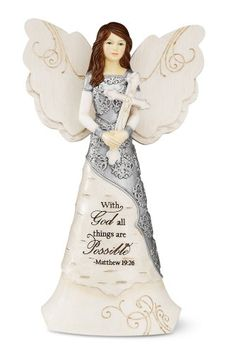 Elements Faith Angel Figurine by Pavilion, 6-1/2-Inch, Holding Cross, Inscription with God All Things Are Possible Elements,http://www.amazon.com/dp/B0078SXQHG/ref=cm_sw_r_pi_dp_hFdAtb1SHYCCDW7T
