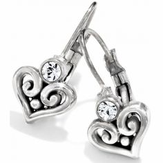 Alcazar Heart Leverback Earrings  available at #Brighton