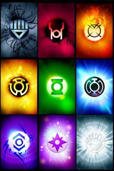 The various Lantern ring designs. Super cool.