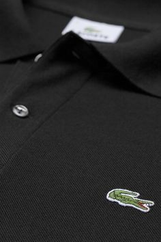 L.12.12 Original FIt Short Sleeve Classic Pique Polo in Black by Lacoste