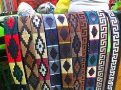 Cinturones argentinos Belts, Blanket, Leather, Woven Bracelets, Tejidos, Blankets, Cover, Comforters