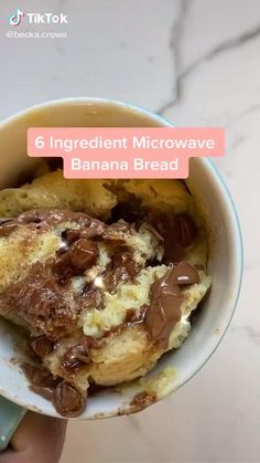 Healthy Dessert Recipes, Healthy Desserts, Snack Recipes, Mug Recipes, Easy Baking Recipes, Microwave Banana Bread, Banana Bread Mug, Microwave Breakfast, Love Food