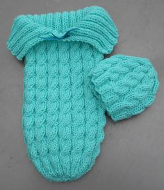 Knit Baby Cable Sleep Sack & Hat