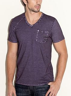 Short-sleeve Stream Jersey V-Neck Tee