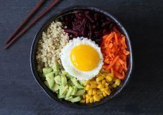 veggie quinoa bibimbap