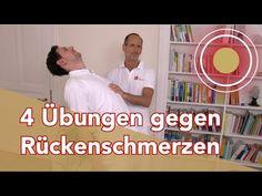 Rückenschmerzen??? 4 Rückenübungen vom Schmerzspezialisten - YouTube Alternative Energy, Alternative Health, Fitness Workouts, Massage, Lower Back Pain Relief, Youtube Comments, Yoga, Health Fitness, Wellness
