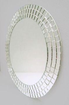 Original DIY Christmas decorations and decoration made of thin wire - best decoration ideas Source b Mirror Mosaic, Mosaic Diy, Mosaic Crafts, Mosaic Glass, Mirror Crafts, Diy Mirror, Mirror Inspiration, Sunburst Mirror, Floor Mirror