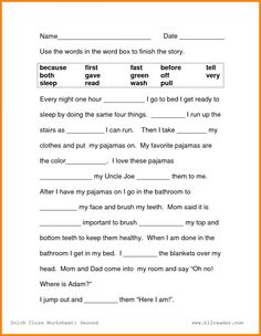 First Grade Reading Worksheets Free Printable images ideas from Worksheets Ideas 4th Grade Reading Worksheets, Homeschool Worksheets, Science Worksheets, Vocabulary Worksheets, Writing Worksheets, Printable Worksheets, Free Printable, Kids Worksheets, Homeschooling