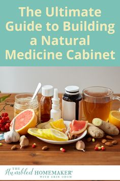 This comprehensive guide to building a natural medicine cabinet will give you all the tools you need to stock your own natural medicine cabinet! Real Food Recipes, Diet Recipes, Alternative Medicine, Natural Medicine, Food Allergies, Homemaking, Medicine Cabinet, Natural Remedies, Health And Wellness