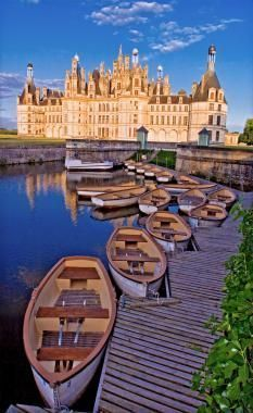 Visiting the Loire Valley in France. there are castles everywhere. Chateau de Chambord, France is one of many beautiful castles the you must see.