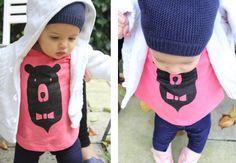 oh! you pretty things - a UK baby blog: DIY bear t-shirt via Oana Befort