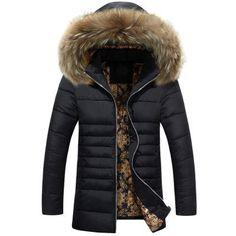 New Arrivals Winter Men s Down Jacket Fur Collar Windproof Parka Warm  Jacket for Men Hooded Men Coat Men s Clothing MJ322. Doudoune Homme Fourrure Veste ... 863ed914dd5