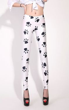 Dog's Paw Print Leggings