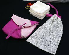 Pochette de 4 lingettes lavables, en velours de coton, réutilisables, écologiques et économiques, étui avec lingettes, à suspendre. de la boutique MAcreacouture sur Etsy