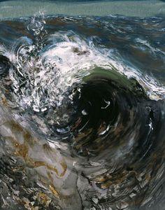 Tunnel - Maggie Hambling Maggi Hambling, Water Artists, Zen Art, Environmental Art, Nature Paintings, Texture Art, Beach Art, Art Sketchbook, Artist Art