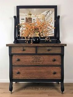 Antique Dresser, French country, Dresser with mirror - SOLD……….Antique Dresser, French country, Dresser with mirror Refurbished Furniture, Paint Furniture, Repurposed Furniture, Furniture Projects, Furniture Making, Furniture Makeover, Living Room Furniture, Furniture Movers, Rustic Furniture