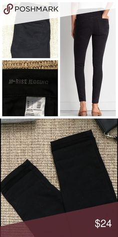 AMERICAN EAGLE Hi-Rise  Black Jegging Only worn a couple of times. Black super, super stretch jegging. Short- 27 inch insem. American Eagle Outfitters Jeans Skinny