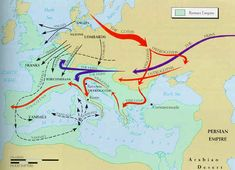 Barbarian invasions 500-600 A.D.