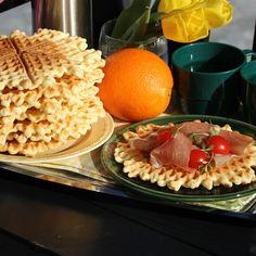 Tørre vafler med HOFF Potetmel laget av Elin Vatnar Nilsen krem.no