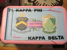 Cooler for Spring Formal, but with PIKE and AZD crests.
