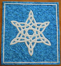 Celtic snowflake decorations