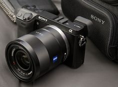 My new camera. Great SLR in a compact body. I also get to use my Nikon lenses on it using an e-mount adapter.