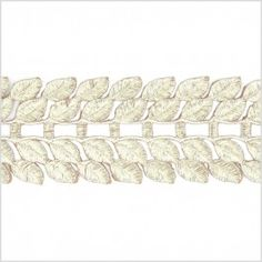 Add stylistic touches to your finished garment or accessory with a stunning metallic twist! Made from polyester and topped with lurex yarns, here is a luminous trim consisting of two separated rows of leaves connected by a central bridge in a metallic gold coloration. This 2.75 inch wide trim can easily be used as a unique shoulder strap, a stylish waistband, a divine central back seam and so much more! Dare to decorate?