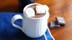 The secret to making a rich cup of hot chocolate? Add red wine