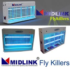 Fly killers or insects control machines attract and kill the flying insects using a light source that attracts the insects towards an electrical grid.  Midlink fly killers are chemical free alternatives designed to work both in indoor environments like houses, offices, food preparation areas and hospitals.