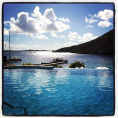 """@yachtthreemoons's photo: """"When we're not sailing, you might find us here in the pool @ScrubIsland ! #travel #bvi"""""""