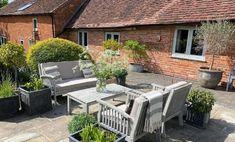 Taking interior design outside Outdoor Spaces, Outdoor Living, Outdoor Decor, Patio, Interior Design, Living Room, Garden, Wall, Home Decor
