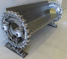 modern industrial bench