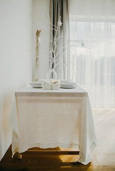 FREE WORLDWIDE SHIPPING Large linen tablecloth. by notPERFECTLINEN, $72.00
