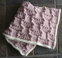 Absolutely adorable Wavy Lace Squares Baby Blanket.