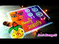 New creative Navratri special rangoli by Jeet. Easy , beautiful and creative. Easy Rangoli Designs Videos, Rangoli Designs Latest, Simple Rangoli Designs Images, Rangoli Designs Flower, Rangoli Border Designs, Rangoli Ideas, Colorful Rangoli Designs, Rangoli Designs Diwali, Flower Rangoli
