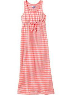 fd6adf61002 Girls Striped Maxi Tank Dresses