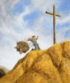 Pilgrim& Progress: Unburdened by DouglasRamsey on DeviantArt Progress Quotes, The Pilgrim's Progress, John Bunyan, English Projects, Prophetic Art, The Cross Of Christ, Jesus Pictures, Bible Pictures, Biblical Art