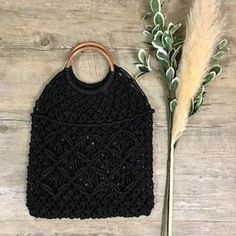 Farrah Crochet Shopper bag in Black Leather Tooling, Leather Clutch, Boho Bags, Shopper Bag, Vintage Leather, Rattan, Purses And Bags, Crochet Top, Wallets