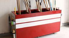 Repurpose an Old File Cabinet as Garage Storage - great idea for an old file cabinet!