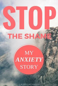 Anxiety is an issue that plagues MILLIONS and yet somehow, it comes with a huge stigma of embarrassment and shame. Blogger Laura Radniecki shares her struggles with anxiety and the hope of stopping the shame that so often accompanies anxiety. Anxiety struggles are tough enough on their own. But when you're afraid to admit you're struggling and too embarrassed to get help? That's when something needs to be done to change the perception of anxiety in our society.