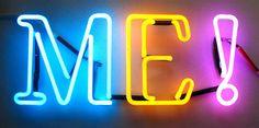 Colorful 'Me !' sign by Lite Neon Brite Studio,