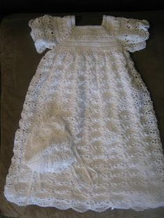 Free Crochet Christening Gown | really enjoy crocheting christening blessing dresses this is the: