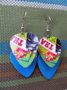 Trader Joe's Gift Cards Edgy Earrings by SissyandSassyStudios on Etsy