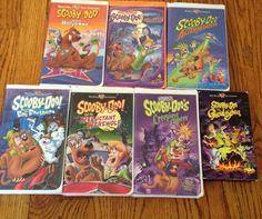 Scooby Doo 7 VHS Lot Creepiest Capers Halloween Boos Ghouls Alien Werewolf