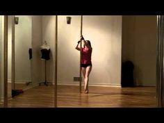 Beginner Intermediate Pole Tricks - nice spinning moves #poledance