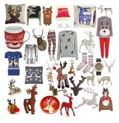 Reindeer by blackserpent on Polyvore featuring polyvore, fashion, style, Warehouse, WearAll, Vero Moda, Topshop, Skinnydip, Kim Rogers, Shea's Wildflower, Waylande Gregory, Disney and Paperchase