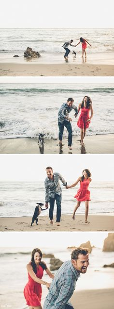 El Matador Beach Engagement Session Photos